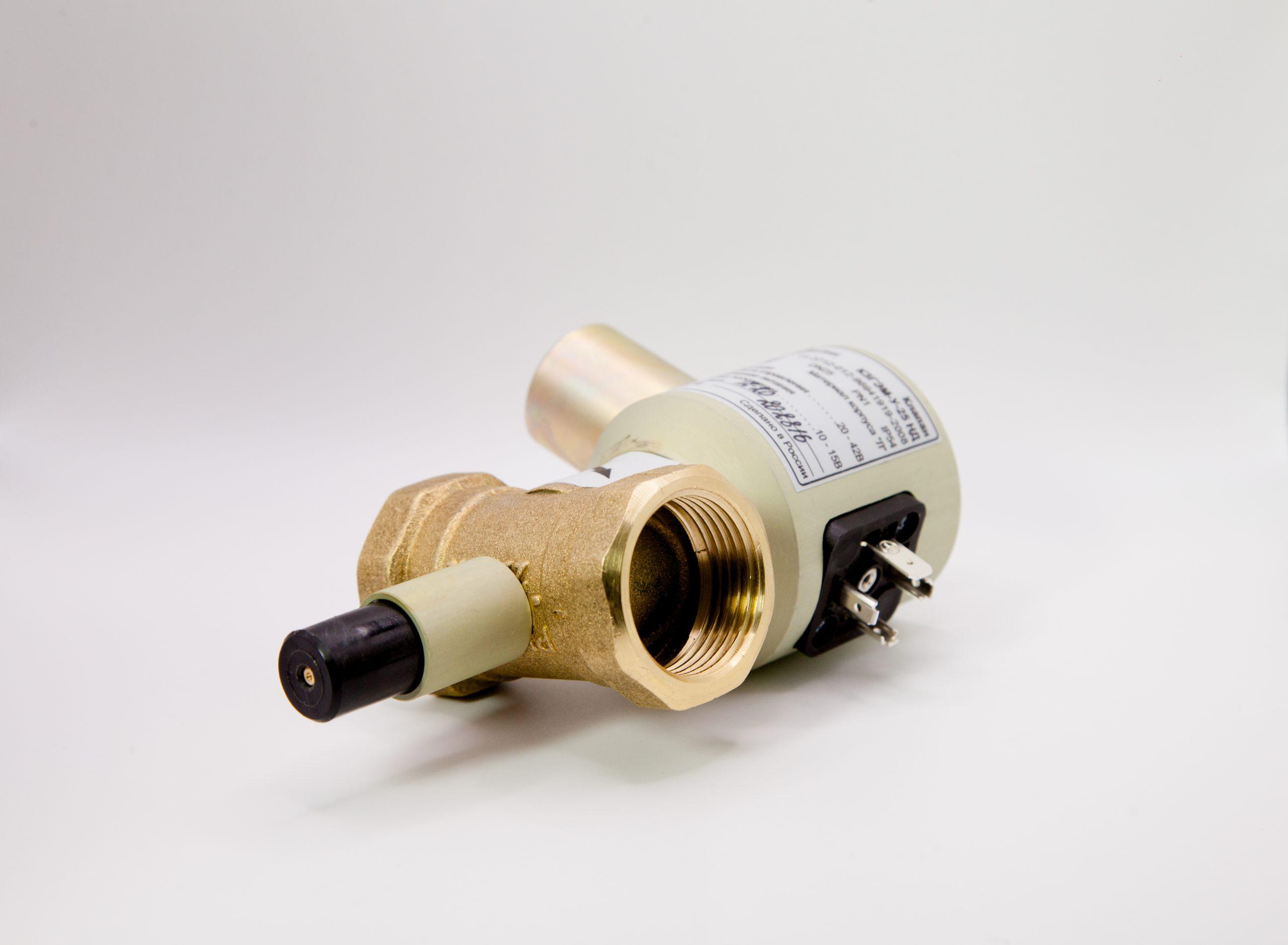 Клапан газовый запорный электромагнитный КЗГЭМ