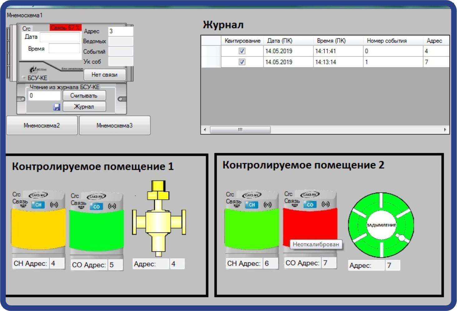 Программа мониторинга и настройки систем САКЗ-МК®-Е «миниSCADA»